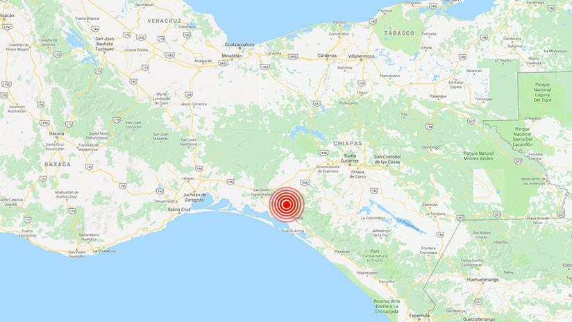 México: Se registra un sismo de magnitud 5,7 en Chiapas