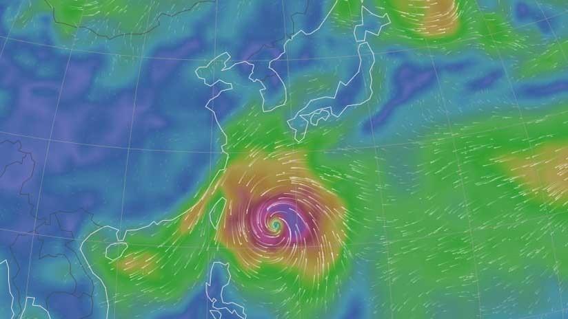 Otro supertifón rumbo a Asia:  Japón, Corea del Sur y China, bajo la amenaza de Kong-rey