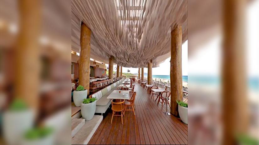 El inusual techo de la terraza de un restaurante de Grecia se vuelve viral en la Red (VIDEO)