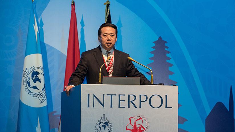 Investigan la desaparición del presidente de la Interpol