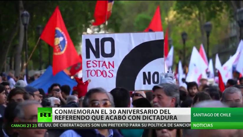 Chile conmemora el 30.º aniversario del referendo que acabó con la dictadura de Augusto Pinochet