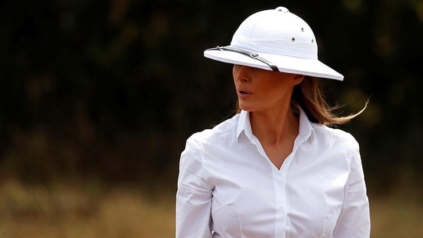 Melania Trump opta por un sombrero