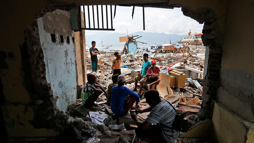 VIDEO: Imágenes satelitales muestran que el tsunami destruyó todo un barrio en Indonesia