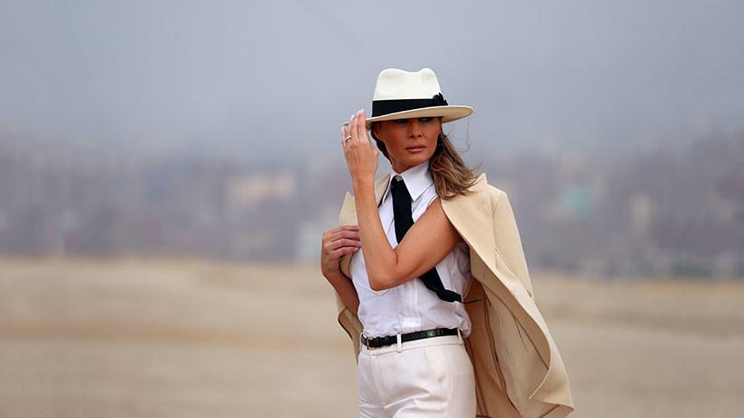 FOTOS: Las redes se burlan del estilo de Melania Trump 'a lo Michael Jackson'