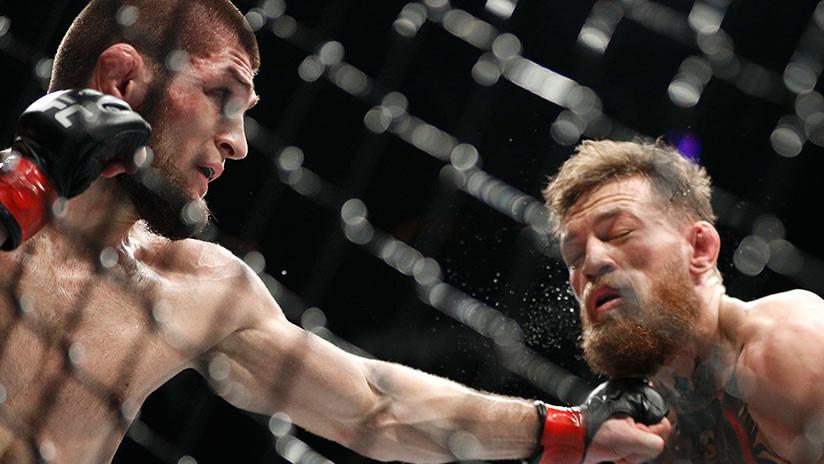 El 'invencible' Khabib Nurmagomédov retiene su título de los ligeros tras derrotar a Conor McGregor