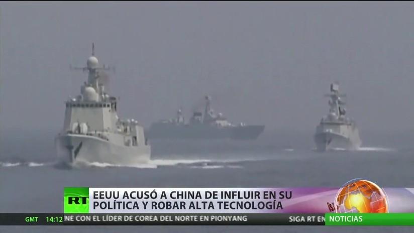 EE.UU. acusó a China de influir en su política y robar alta tecnología
