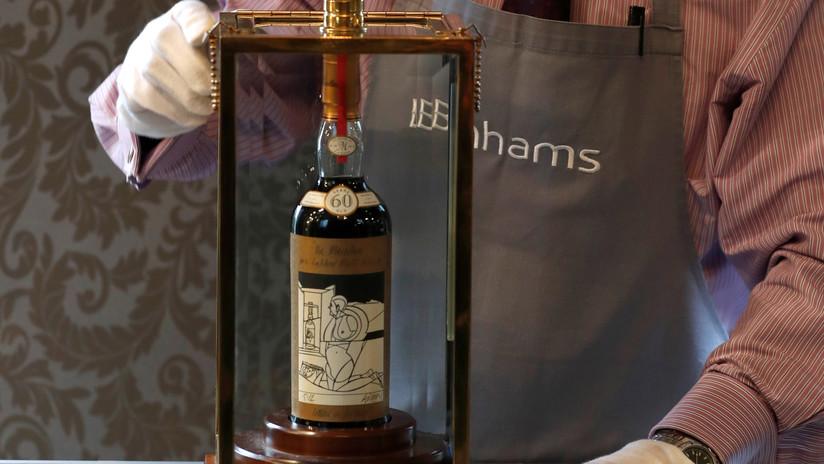 Subastan la botella de whisky más cara del mundo por 1,1 millones de dólares
