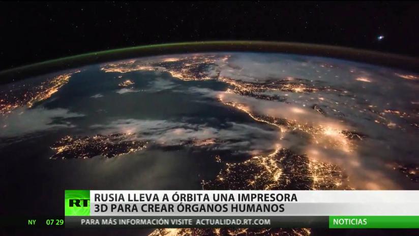 Rusia lleva a la órbita una impresora 3D para crear órganos humanos