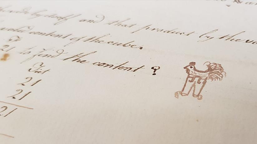 Una gallina en pantalones dibujada en el siglo XVIII por un niño de 13 años conquista la Red
