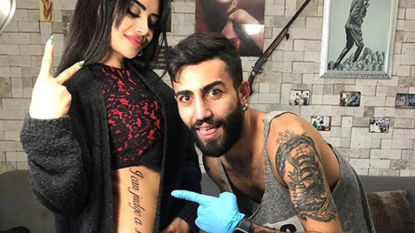 FOTOS: Estrella de televisión se hace un tatuaje gigante y sufre burlas por una mala traducción