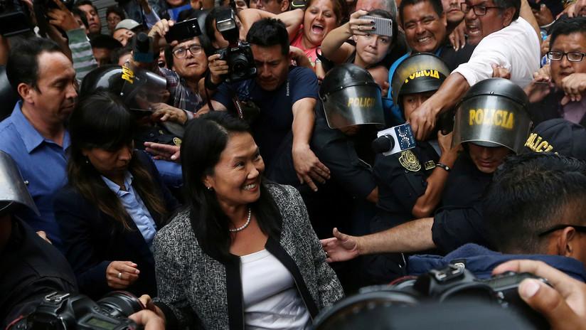 Detienen a líder opositora Keiko Fujimori por lavado de activos