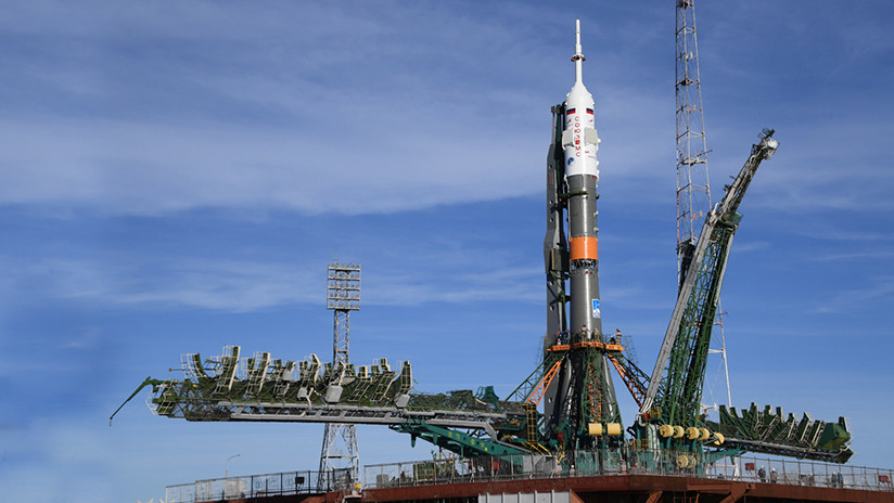 VIDEO: Despega el cohete Soyuz-FG rumbo a la EEI con dos tripulantes a bordo