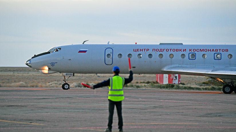 VIDEO: La tripulación de la Soyuz MS llega a Baikonur antes de partir hacia Moscú