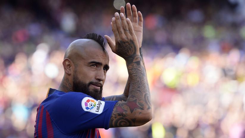 """El futbolista chileno Arturo Vidal reconoció que fue un """"error"""" la pintada hecha contra Perú en 2015"""