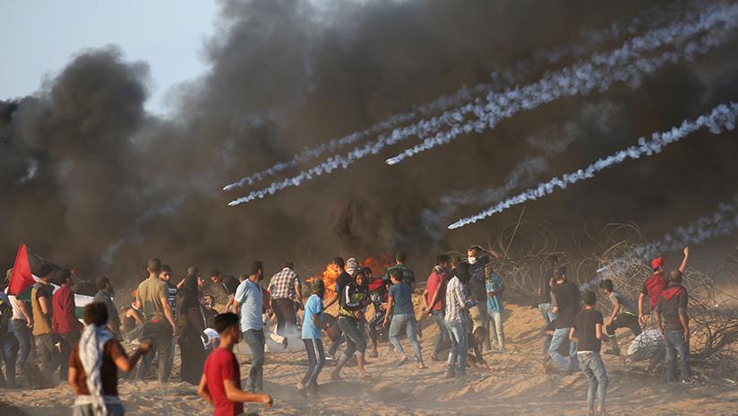 Fuerzas isralíes matan a seis palestinos y hieren a más de 140 durante una protesta en Gaza