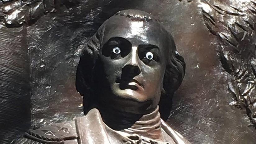 A la caza del 'bandido de los ojos saltones': vandalizan la estatua de un héroe en EE.UU. (FOTO)