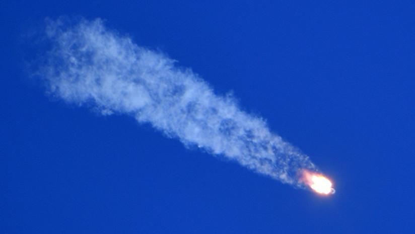 FOTOS: Captan desde la EEI el momento exacto de la avería del cohete Soyuz