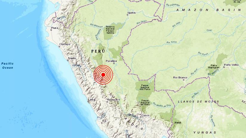 Un sismo de magnitud 5,5 sacude la zona central de Perú