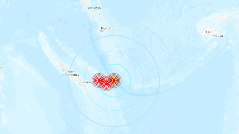 Terremoto de magnitud 6.3 sacude islas de Nueva Caledonia