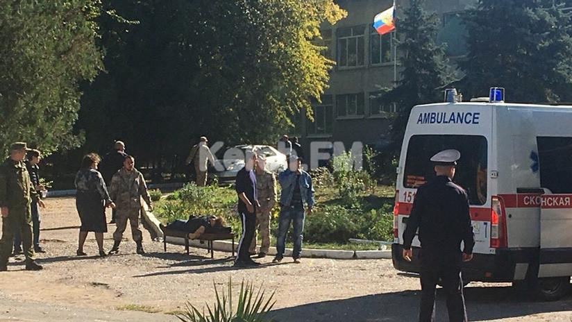 """Califican ahora de """"asesinato"""" el ataque contra una escuela en Crimea que dejó múltiples muertos"""