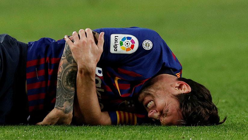 Messi estará de baja durante tres semanas por lesión tras caída