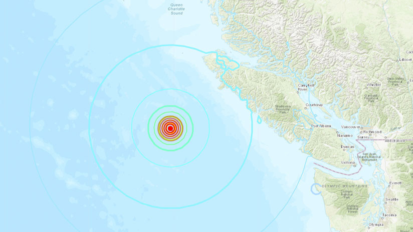 Tres sismos sacuden a Canadá; el más potente de 6,8