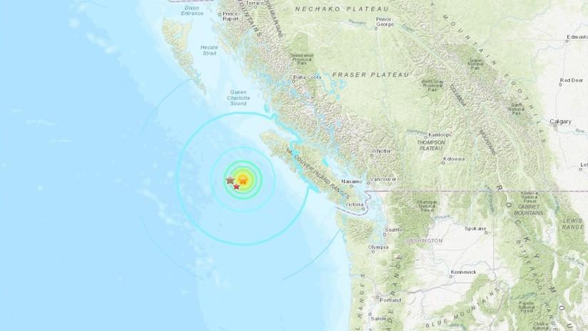 Se registran fuertes sismos en Canadá