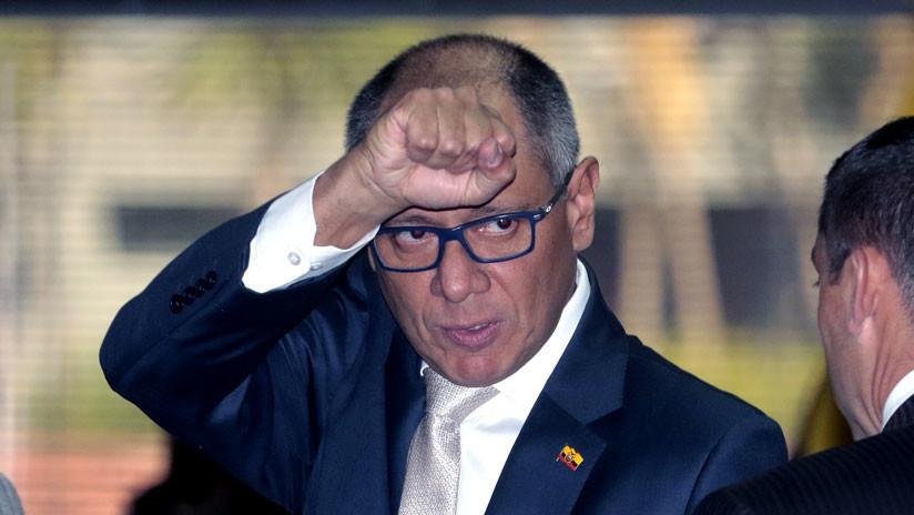 """""""Mi vida corre peligro"""": Exvicepresidente de Ecuador en huelga de hambre por su traslado de prisión"""