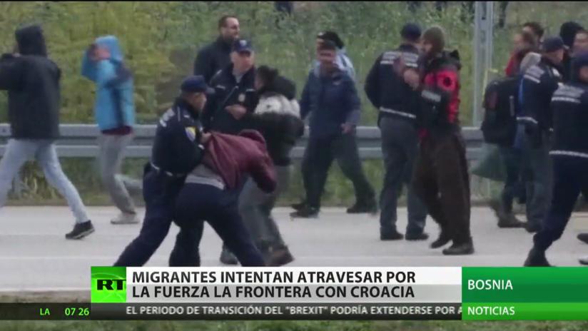Bosnia: Migrantes intentan cruzar por la fuerza la frontera con Croacia