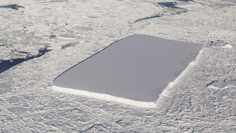 La NASA publica imágenes de un segundo iceberg en la Antártida con forma de rectángulo casi perfecto