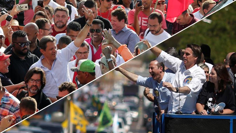 Bolsonaro y Haddad a segunda vuelta: Claves de la campaña más polarizada de la historia de Brasil