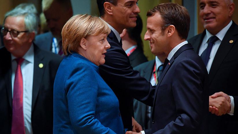 Merkel y Macron abogan por una decisión coordinada de la UE sobre la venta de armas a Riad