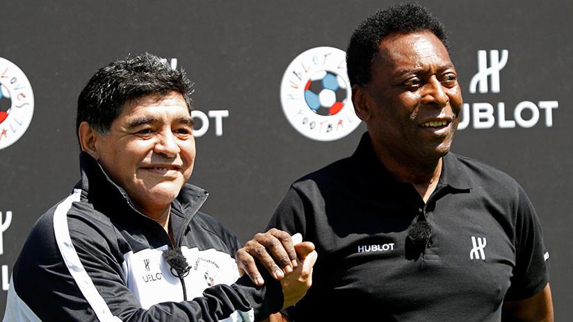 La extraña felicitación de Pelé a Maradona por su 58 cumpleaños