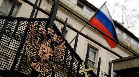 La Embajada rusa en Londres.