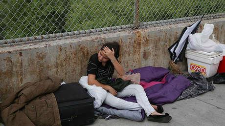 Una solicitante de asilo guatemalteca cerca de Brownsville, Texas, EE.UU., 25 de julio de 2018.