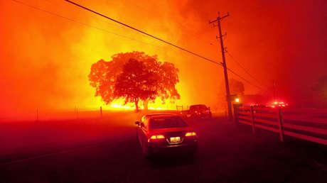 Incendios cerca de la ciudad de Clayton, California, EE.UU., 9 de septiembre de 2013