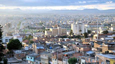 Panorámica de la ciudad de Bogotá, Colombia.
