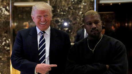 El presidente electo Donald Trump y el músico Kanye West en Nueva York en diciembre de 2016.