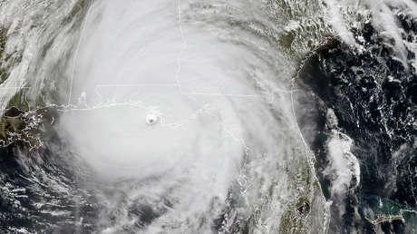Imagen satelital del huracán Michael. 10 de ostubre de 2018.