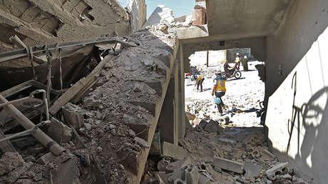 Escombros tras un ataque en la localidad de Al Habit, en la provincia de Idlib, Siria, el 10 de septiembre de 2018.