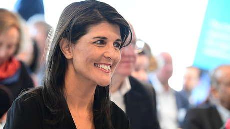La embajadora de EE.UU. ante la ONU, Nikki Haley.