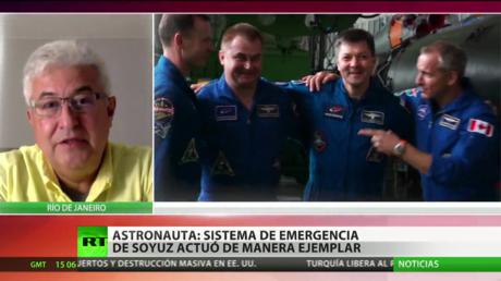 """El sistema de emergencia de la nave Soyuz """"funcionó correctamente como se esperaba"""""""
