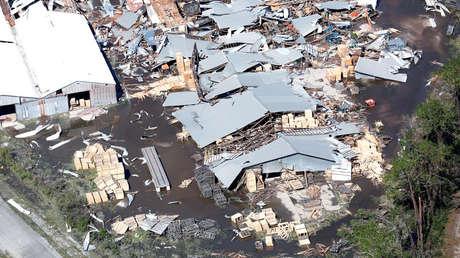 Comparan el huracán Michael con la 'madre de todas las bombas'