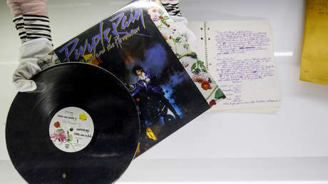 Disco original de 'Purple Rain' de Prince.