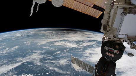 La umbra, una sombra de la luna, se ve sobre EE.UU. desde la Estación Espacial Internacional, 21 de agosto de 2017.