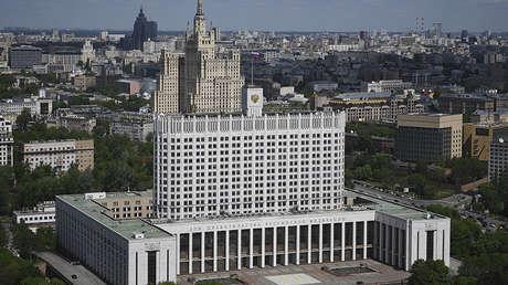 La sede del Gobierno ruso en Moscú.