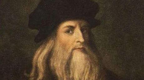 Retrato de Leonardo Da Vinci.