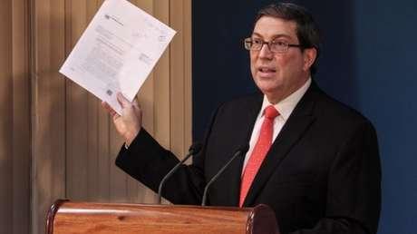 El canciller Bruno Rodríguez Parrilla