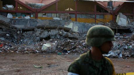 Un soldado en Juchitán, México tras el terremoto de Chiapas, el 9 de septiembre de 2017.
