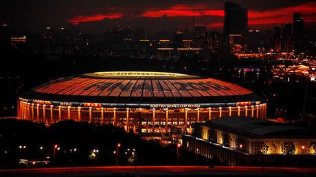 El estadio Luzhnikí de Moscú, en la víspera de la final de Rusia 2018.